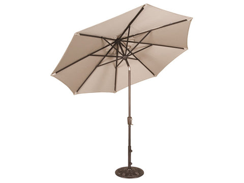 9Ft. Umbrella With Aluminum Frame & Auto Tilt