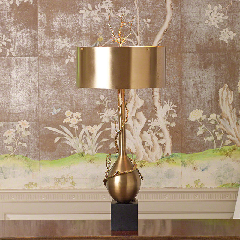 Twig Bulb Table Lamp In Brass