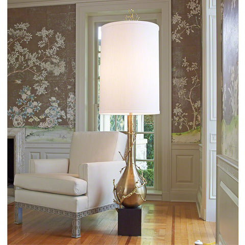 Twig Bulb Floor Lamp in Brass