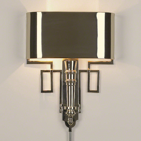 Torch Sconce w/Shade-Nickel