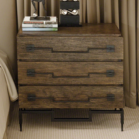 3 Drawer Wide Chest- Dark Brushed Mango