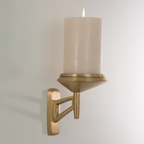 Car Mirror Sconce-Antique Brass