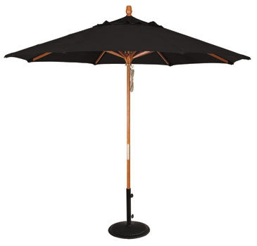 9Ft. Umbrella With Wood Frame