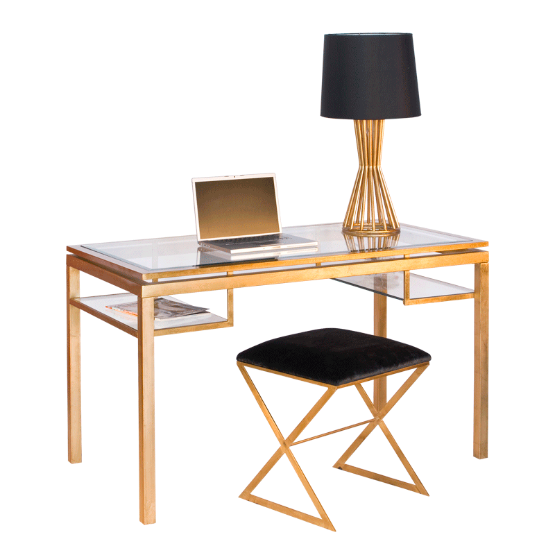 Brentwood Gold Desk