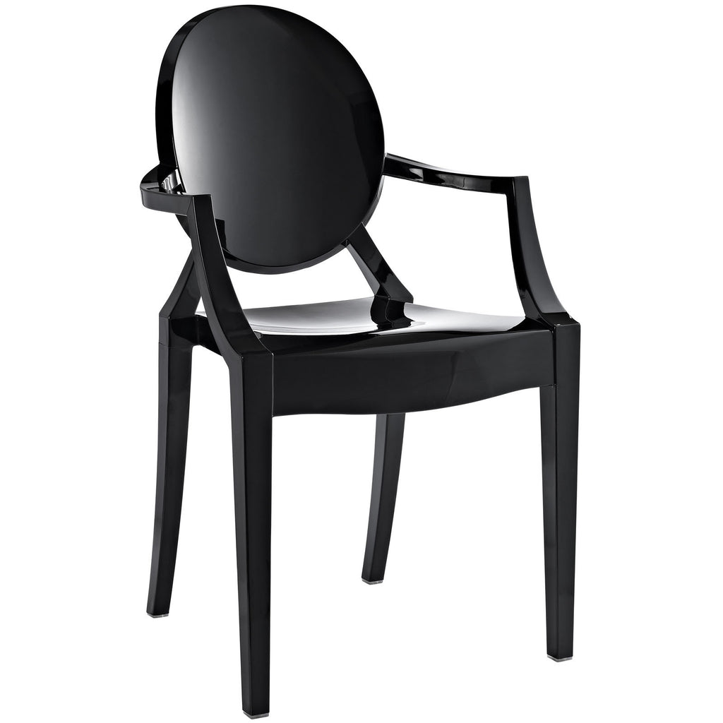 Casper Acrylic Black Dining Chair