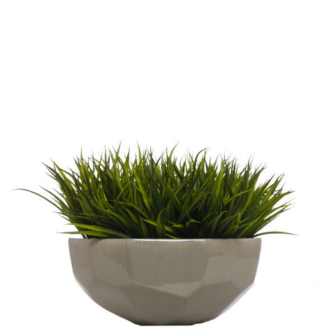 Faceted Grass Bowl