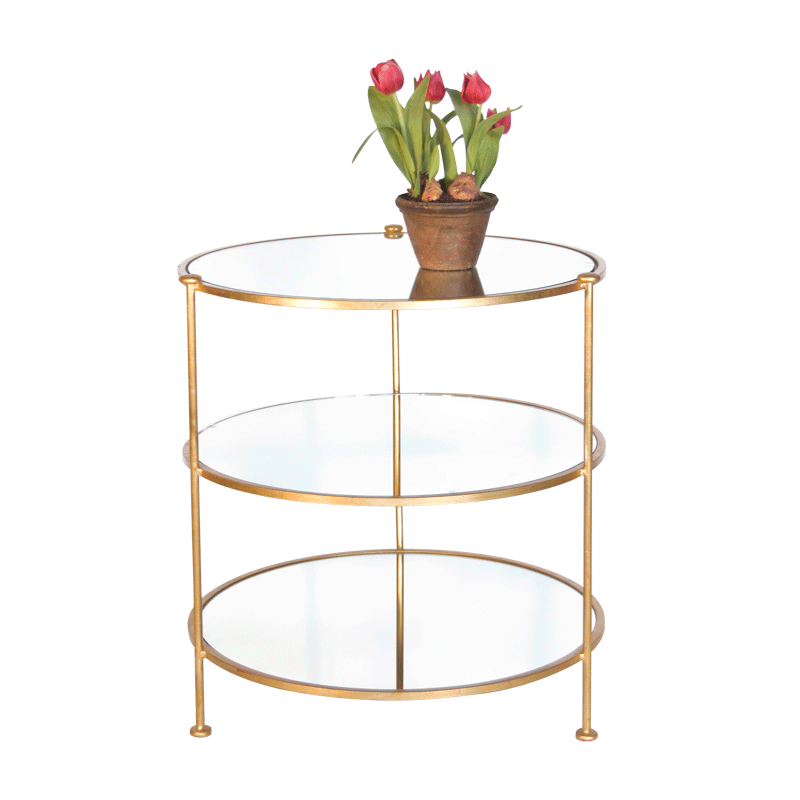 Gold Three Tier Table