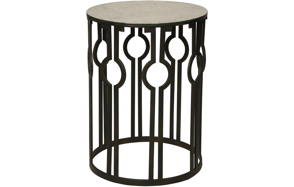 Natine Side Table w/Antique Glass, AG