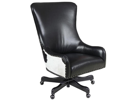 Nouveau Black with Black and White HOH Executive Swivel Tilt Chair
