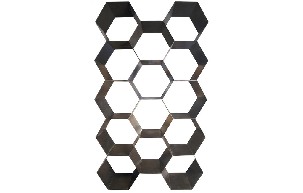 Bee Hive Bookcase, Metal