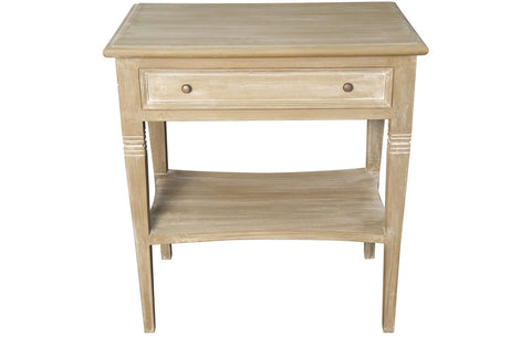 Oxford 1 Drawer Side Table, Weathered