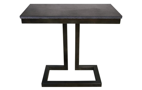 Alonzo Side Table w/Stone