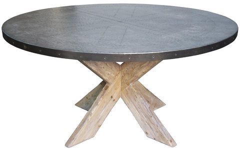"60"" Austin Table w/ Zinc Top"