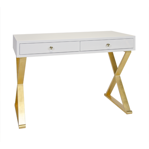 Jared White with Gold Desk