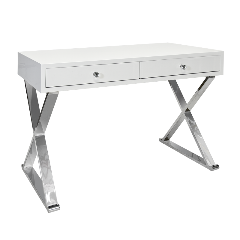 Jared White and Silver Desk