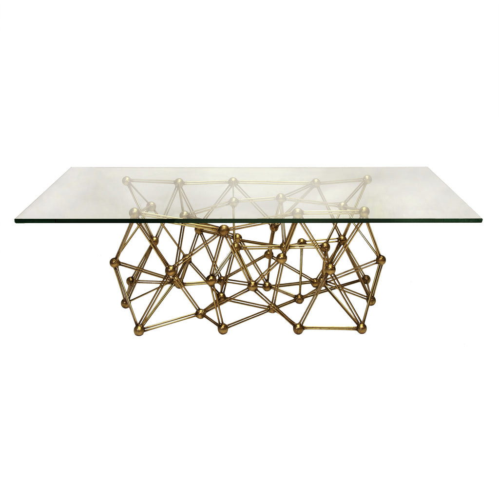 Molecule Large Gold Coffee Table