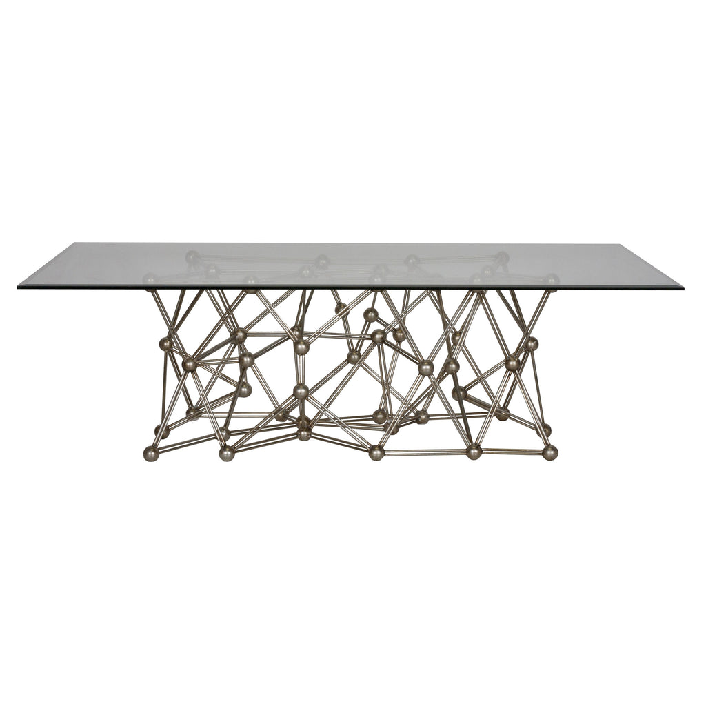 Molecule Large Silver Coffee Table