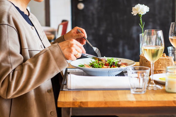 Restaurant dine-in, eating in restaurants to support local small business.