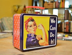 Rosie the Riveter Lunchbox - for pick-up at OHC office
