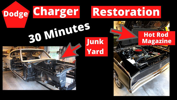 Dodge Cahrger Restoration Junkyard to Hot Rod in 30 Minutes