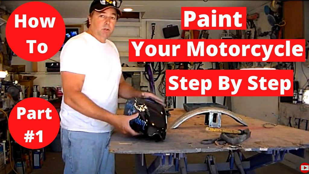 How To Paint Your Motorcycle Tank & Fenders Step By Step Part#1