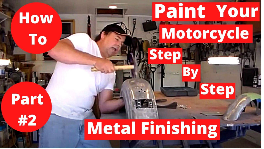 How To Paint Your Motorcycle Step By Step Part #2 Metal Finishing