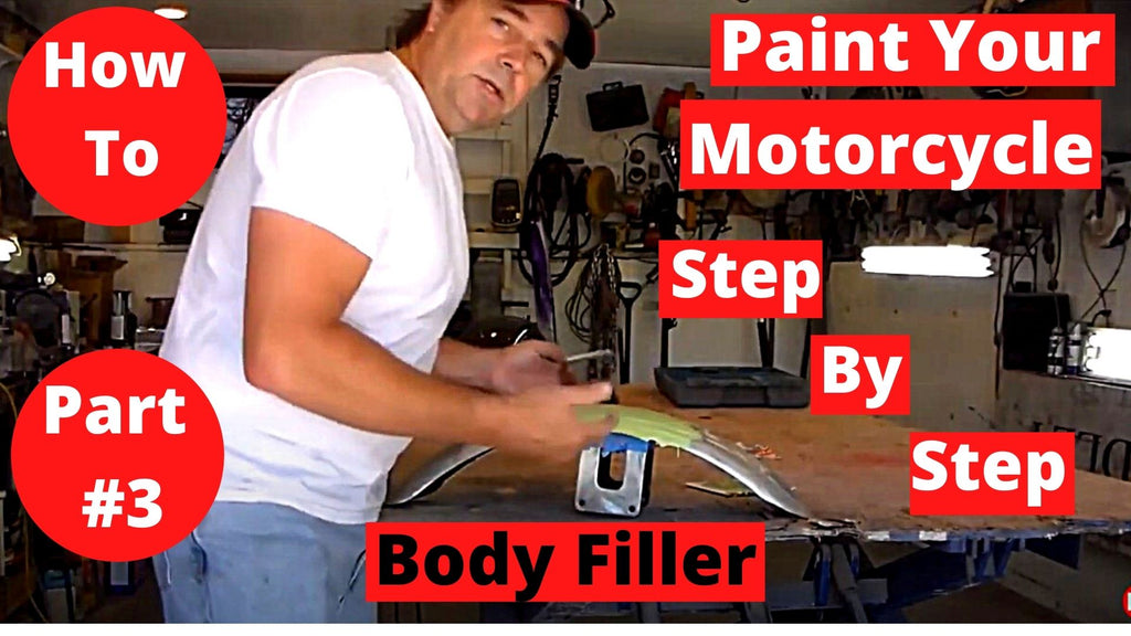 How To Paint Your Motorcycle Step By Step Part #3 Body Filler Sanding & Prep