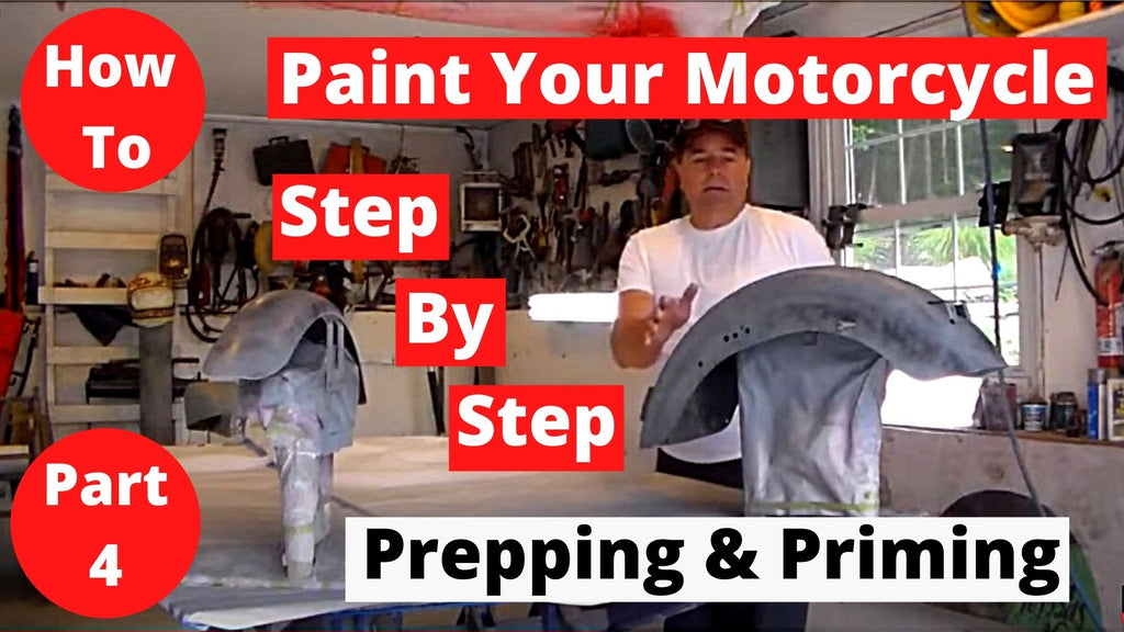 How To Paint Your Motorcycle Step By Step Part 4 Priming & Prepping for Paint