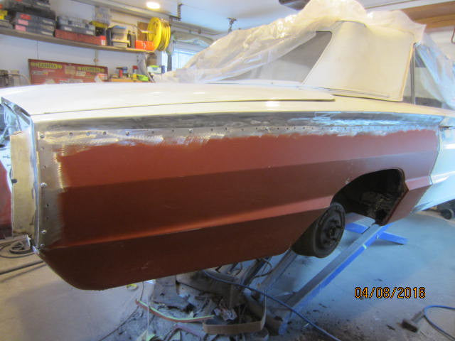"""66 T-Bird project Quarter Panel Replacement"