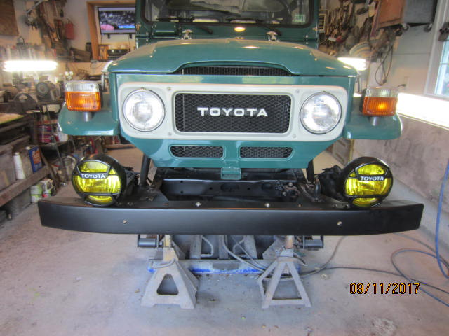 Toyota FJ40 Landcruiser Power Steering Conversion Mounting the Box #2