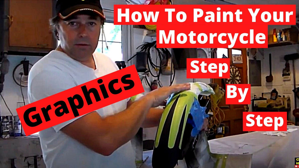 How To Paint Your Motorcycle Step By Step Part 6 Graphics