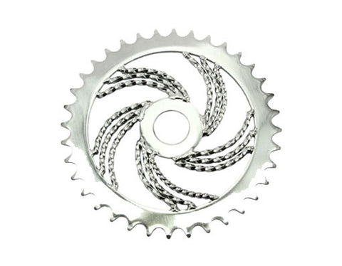 Picture of Lowrider Triple Twisted Chainring 36t 1/2 x 1/8 Chrome.