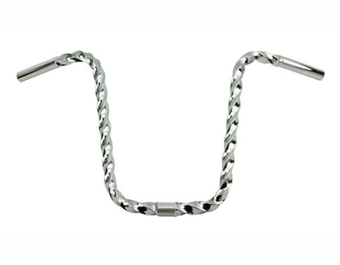 "Picture of All Square Twisted Handlebar 13"" 25.4mm Chrome."