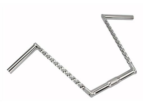 "Picture of Double Twisted Handlebar 12"" 25.4mm Chrome."