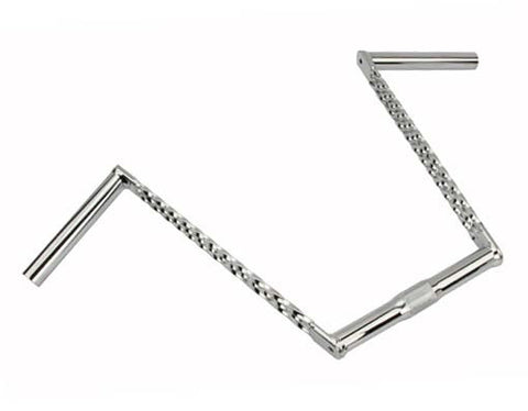 "Picture of Triple Twisted Handlebar 12"" 25.4mm Chrome."