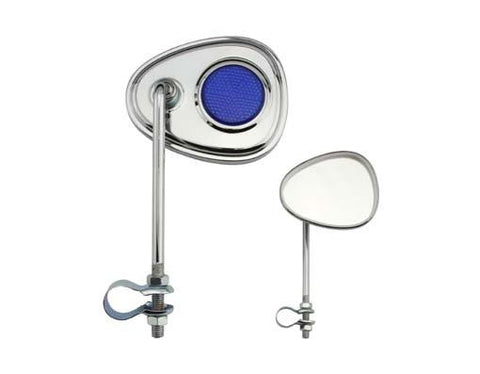 Picture of V Mirror Chrome Blue Reflectors.