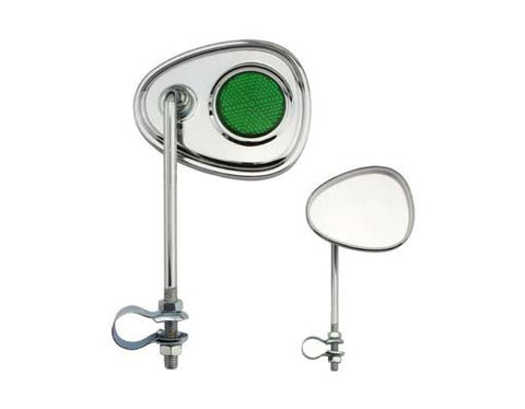 Picture of V Mirror Chrome Green Reflectors