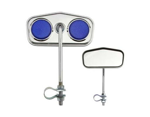 Picture of Diamond Mirror Chrome Blue Reflectors.