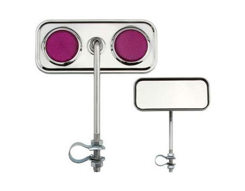 Picture of Rectangle Mirror Chrome Purple Reflectors.