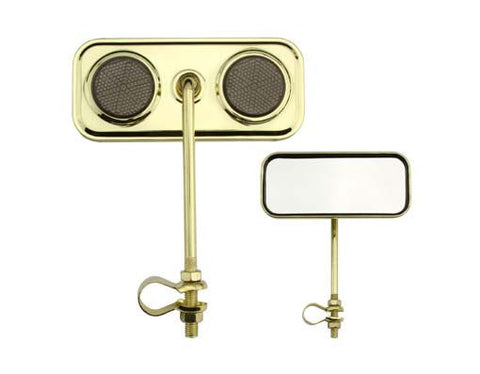 Picture of Rectangle Mirror Gold Black Reflectors.