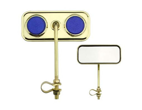 Picture of Rectangle Mirror Gold Blue Reflectors