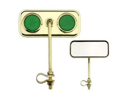 Picture of Rectangle Mirror Gold Green Reflectors.