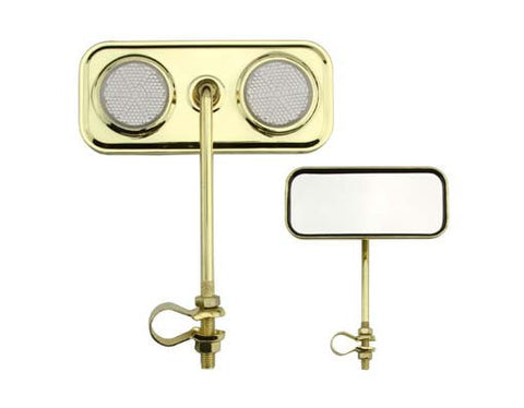 Picture of Rectangle Mirror Gold Clear Reflectors.