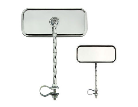Picture of Rectangle Twisted Mirror All Chrome.