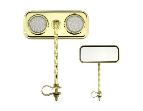 Picture of Rectangle Twisted Mirror Gold Clear Reflectors.