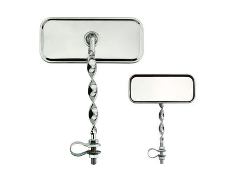 Picture of Rectangle Flat Twisted MirrorAll Chrome.