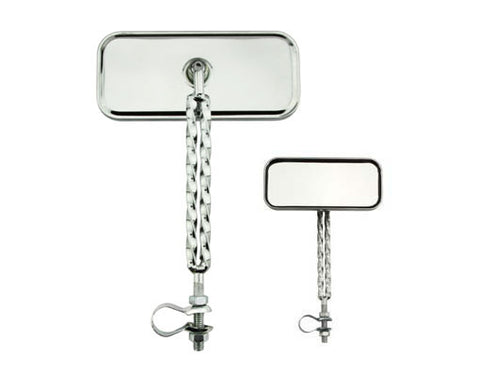 Picture of Double Twisted Mirror All Chrome.