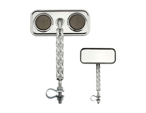 Picture of Double Twisted Mirror Chrome Black Reflectors