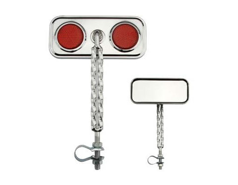 Picture of Double Twisted Mirror Chrome Red Reflectors.