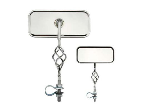 Picture of Cage Rectangle Mirror All Chrome.